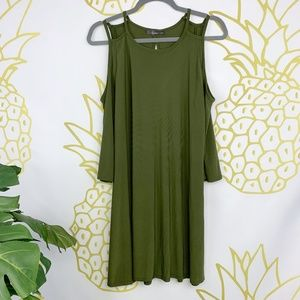 Pinc | Green Cold Shoulder Dress!